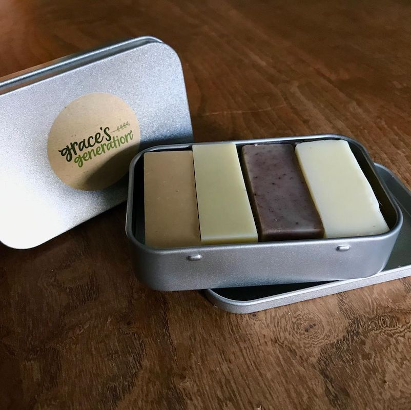 Grace's Generation Soap Set in metal box